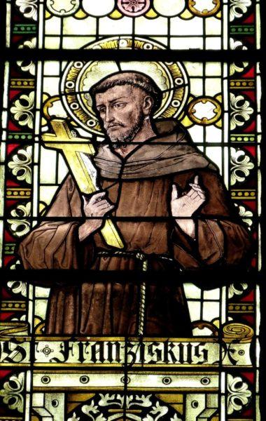 Fensterglas Franz von Assisi